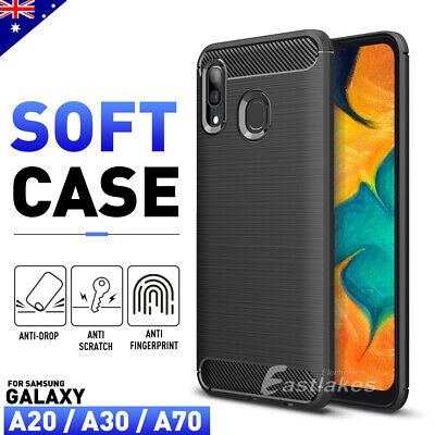 Samsung Galaxy A20 A30 A70 A5 A8 Case Cover, Shockproof Brushed Flexible Silicon