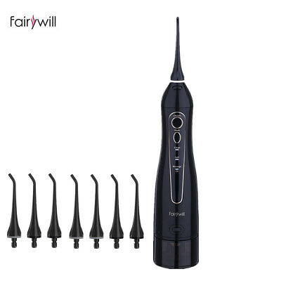 Fairywill Cordless Water Flosser Rechargeable Dental Flosser Cordless 2 Jet Tip