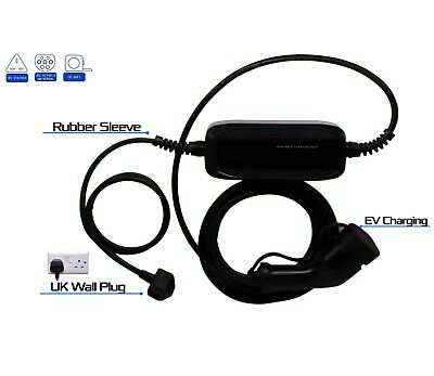 Smart Fortwo Forfour EV Charging Cable Charger 5 metre cable UK 3 pin Plug