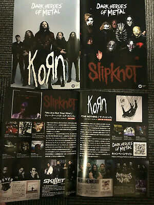 SLIPKNOT The Nothing Japan 2019 flyer mini-poster KORN We Are Not Your Kind MINT