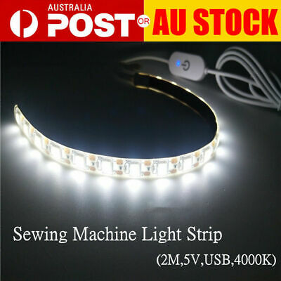 "Sewing Machine LED Strip Light Kit 12"" DC 5V Flexible USB Sewing Light 2019 AU"