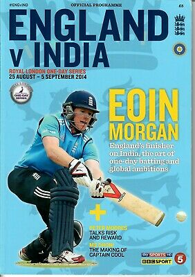 England v India ODI Series 2014 - SIGNED PROGRAMME - See Photos - MINT CONDITION