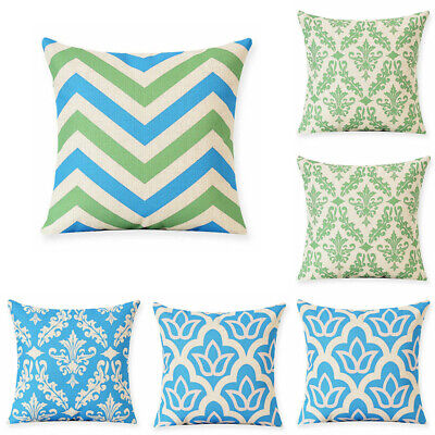 Home Decor Cotton Linen Geometry Pillow Case Office Sofa Waist Cushion Cover
