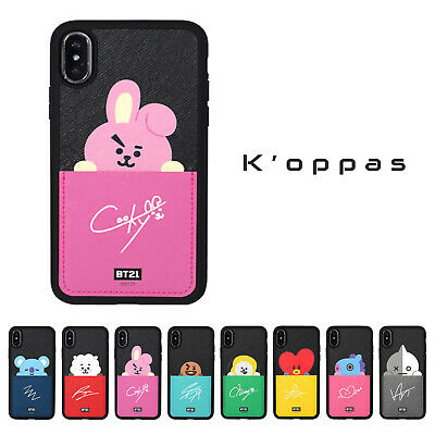 Official BT21 Card Pocket Phone Case Cover For iPhone 100% Authentic + Free Gift