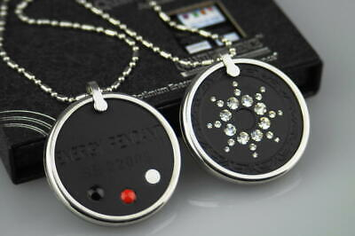 Funky Design Necklace Bio Scalar Energy Anti EMF Radiation Protective CZ Pendant