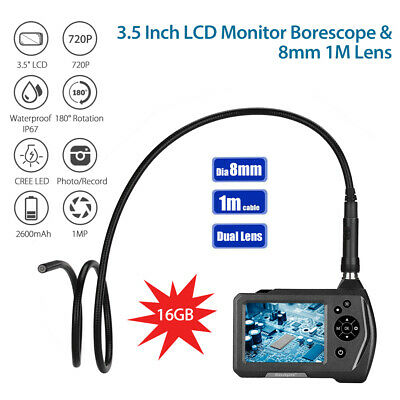 """NTS150 Dia 8mm lens 3.5""""Monitor Waterproof 6LED Light Inspection Camera 1M Cable"""