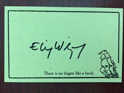 Elie Wiesel Signed Bookplate By Author, Nobel Laurate, Holocaust Survivor