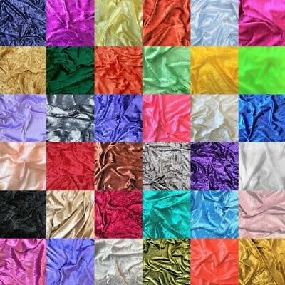 Crushed Velvet Fabric Upholstery Material Premium Stretch Craft 150cm Wide