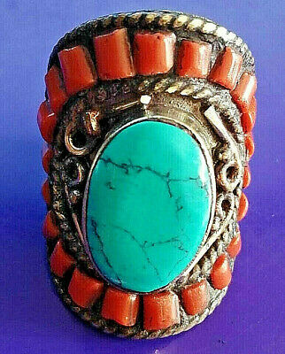 Extremely Rare Medieval Silver Massive Huge Ring Rare Stones Ancient
