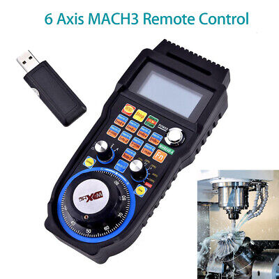 CNC MACH3 6 Axis Electronic Handwheel Controller Craving Manual Operating w/LCD