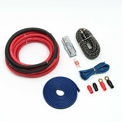 4 Gauge Amplifier Wiring Kit 4 Awg Amp Red 20% Oversized Cables 25Mm2 2500W
