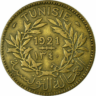 [#457637] Coin, Tunisia, Anonymous, 2 Francs, 1921