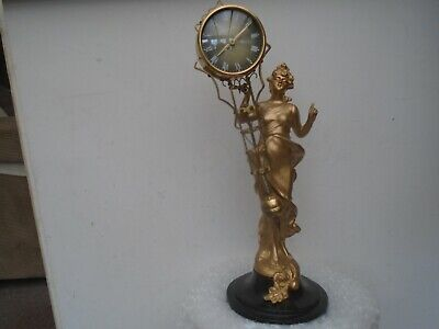 Very nice gold painted spelter figure with President clock  NICE CLEARANCE FIND