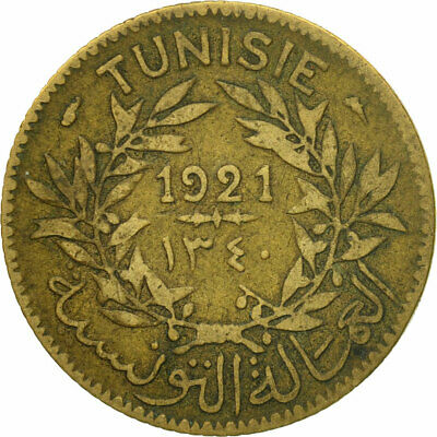 [#547635] Coin, Tunisia, Anonymous, Franc, 1921, Paris, VF(30-35)