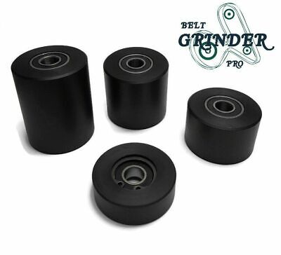 "1.6"" Diameter Black Nylon Roller Wheel Bearing Sliding Wheel Flat Belt Idler"
