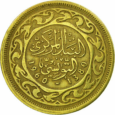 [#670483] Coin, Tunisia, 20 Millim, 1960, Paris, EF(40-45), Brass, KM:307
