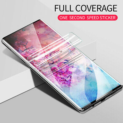 For Samsung Galaxy Note 10 Plus S10+ Hydrogel Full Cover Screen Protector Film
