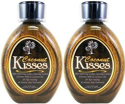 2 Ed Hardy COCONUT KISSES Indoor Tanning Bed Lotion Tanovations - 13.5 oz