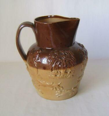 James Stiff 3 Pint Brown Salt glazed Stoneware Hunting Jug: Victorian