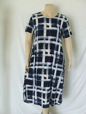 NEW Long A-Line Short slv stretchy no-iron poly//span #757 Travel Knit Dress