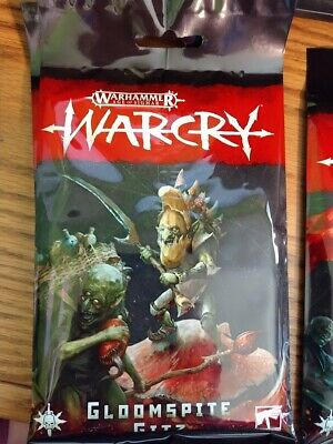 Warhammer AoS WarCry Gloomspite Gitz Faction Cards Pack New Sealed
