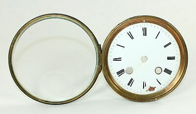 CLOCK DIAL with BEVELED GLASS, BEZEL, and BRACKETS - TK236