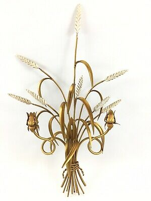Hollywood Regency Italian Wheat Candle Sconce