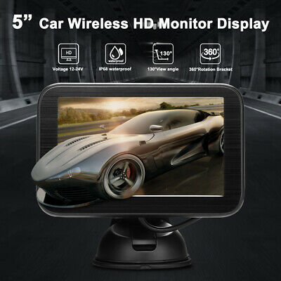5in Wireless TFT LCD Color HD Mirror Monitor Reversing Camera Car Parking System
