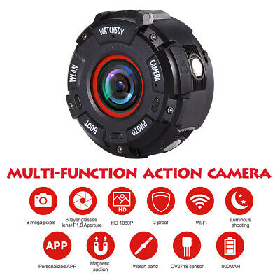 Wifi 2K 1080P Ultra HD Action Camera Video Camcorder Wide-angle Waterproof Black