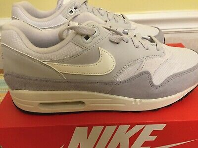 NIKE AIR MAX 1 Suede Vast Grey Sail Ah8145 011 Men's New