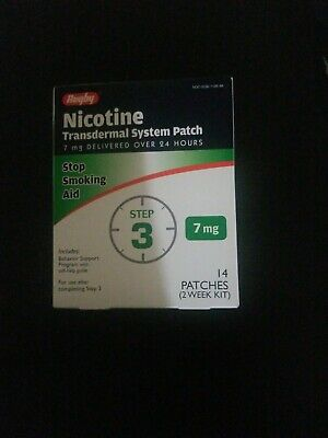 Rugby Nicotine Transdermal System Step 3 Patches 1-10/20/Aid 7mg NIB