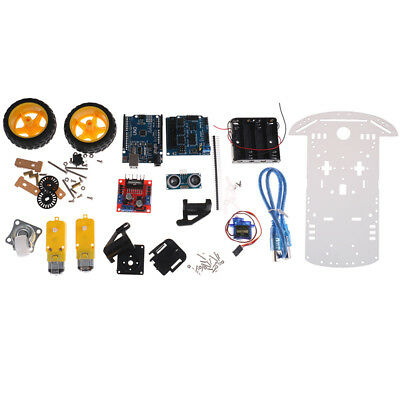 Smart car tracking motor smart robot car chassis kit 2wd ultrasonic arduino   JC