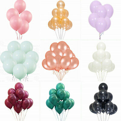 "10"" 100PCS Colorful Pearl Latex Balloon Christmas Party Wedding Birthday Decor"