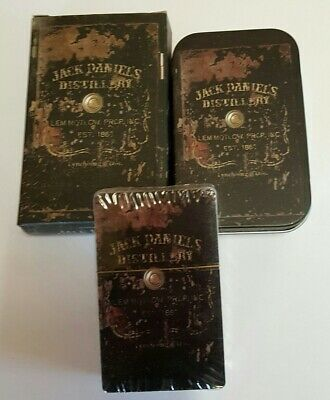Jack Daniels Playing Cards, In Tin, New, Never Opened.