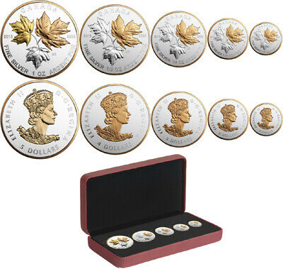 2016 CANADA $2 Silver Maple Leaf 1/10 oz Reverse proof from Fractional set