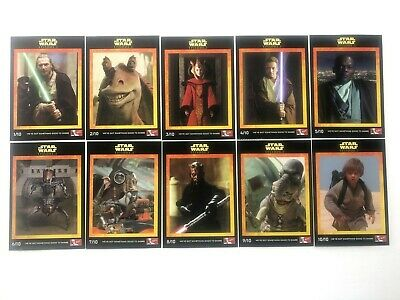 Star Wars - Phantom Menace-Episode 1-Set Of Cards-Kfc-Plus 2 Bonus Cards