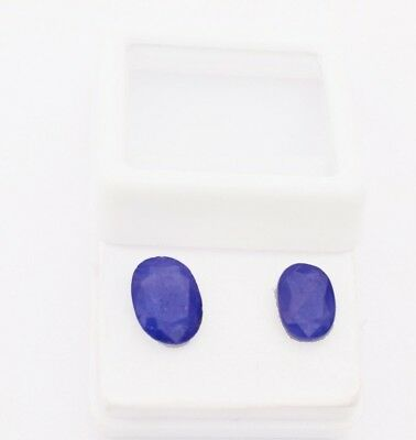 Certified 4.55 cts Pair of Natural Blue Sapphire Burma Mine Unheated Gemstone