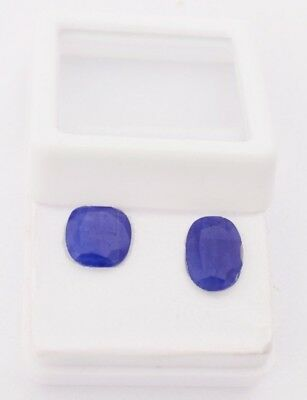 Certified 3.05 cts Pair of Natural Blue Sapphire Burma Mine Unheated Gemstone