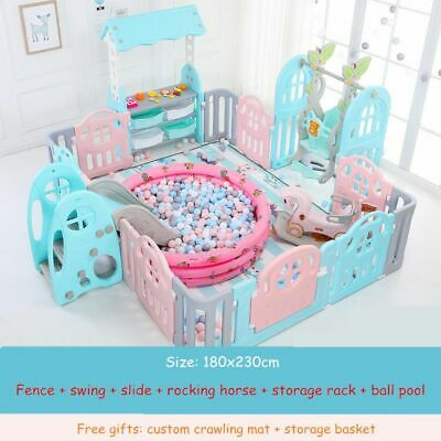 Kids Baby Playground Indoor Family Amusement Park Baby Toddler Fence Safety New