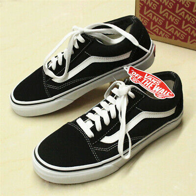 VAN Old Skool Skate Shoes Black/White All Size Classic Canvas Sneakers UK SALE