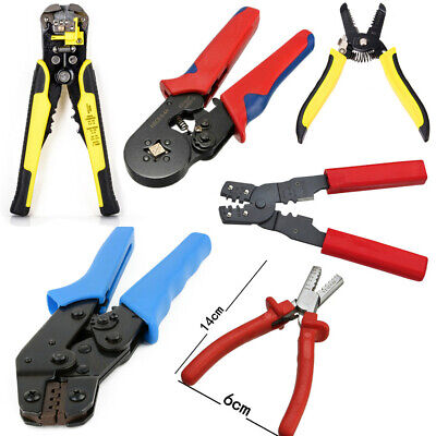 8 Types Ratchet Crimper Plier Connector Electrical Terminal Crimping hand Tool