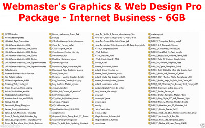 Internet Business - 60GB Webmaster's Graphics & Web Design Pro Package