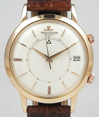 Jaeger LeCoultre 18K Pink Gold - Large Size Memovox - White Dial (c.1968)