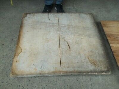 Large Victorian English Pitched Pine Wood, Coffee Table Top, From Wool Mill