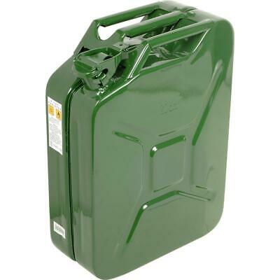 New Military Green Jerry Can 20 Litre, Metal 5 Gallon Fuel Nozzle Petrol Storage