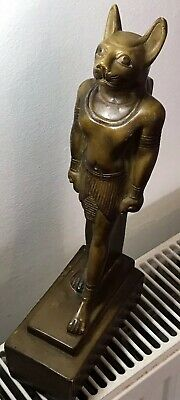 ENORMOUS (300mm) Statue Of Ancient Egyptian Goddess: Bastet. 1.5kg.