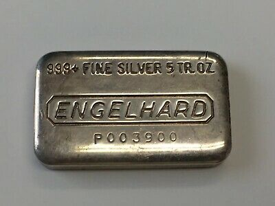 10 oz Silver Bar Engelhard Tall-E Logo - SKU #69573