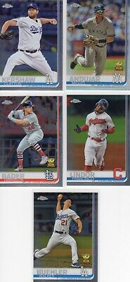 2019 Topps Chrome Baseball Base Cards #1-204 You Pick Complete Your Set Rc