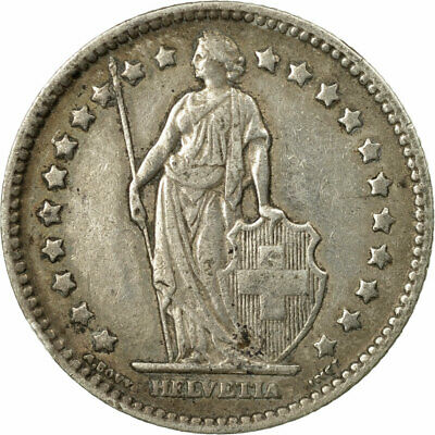 [#549133] Coin, Switzerland, Franc, 1908, Bern, VF(20-25), Silver, KM:24