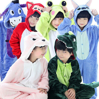 Unisex Kids Animal Pajamas Kigurumi Children Cartoon Cosplay Costumes Sleepwear